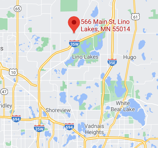 map to the barn church in lino lakes